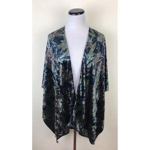 Simply Noelle Velvet Wrap Kimono Top One Size